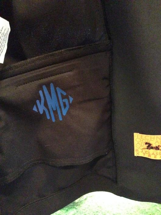 "2"" show coat monogram!"